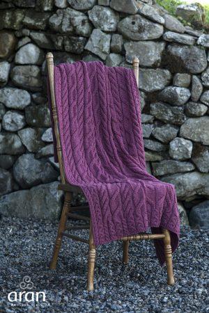 Aran Woolen Mills Jam Super Soft Blanket