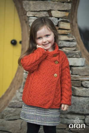 Girls Super Soft Aran Cardigan