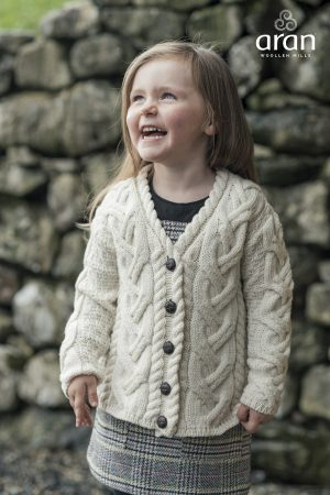 Children's V Aran Cardigan