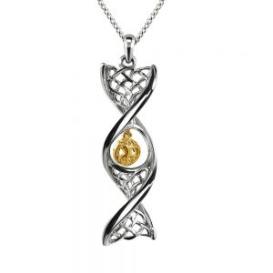 Sterling Silver Tree Of Life DNA Necklace
