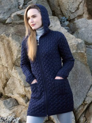 Aran Luxurious Chunky Cable Coat