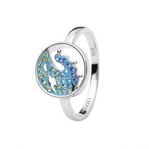 Blue Wave Ring with Aqua Swarovski® Crystals OC183