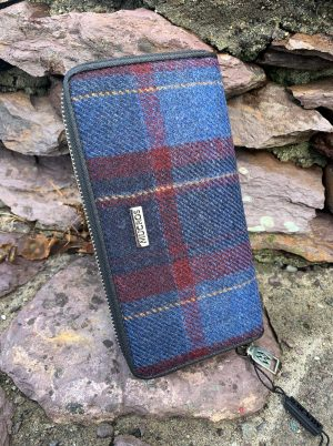 Mucros Blue Red Check Purse