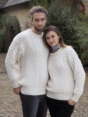 Aran Kildare Merino Wool Unisex Sweater