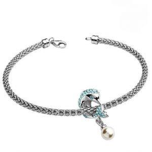 Aqua Dolphin Bracelet With Swarovski® Crystals OC59SB