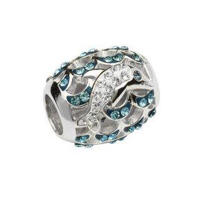 Crystal Dolphin Bead With Swarovski® Crystals OC61