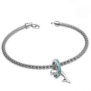 Dolphin Bracelet With Swarovski® Crystals OC60SB