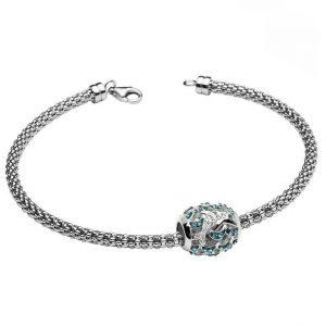 Dolphin Charm Bracelet With Swarovski® Crystals OC61SB