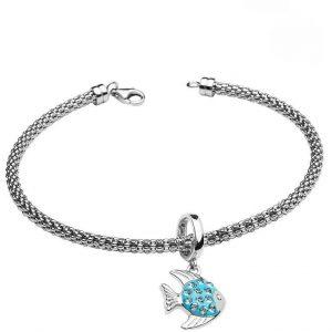 Fish Charm Bracelet With Swarovski® Crystals OC62SB