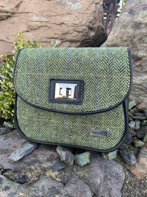 Mucros Green Herringbone Sarah Bag