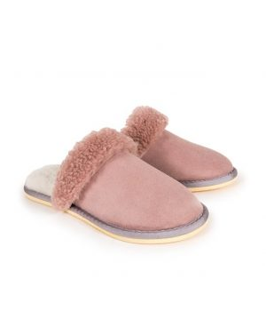 Pink Turnback Mules Slippers