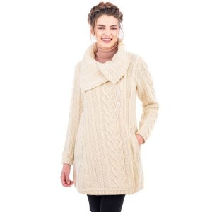 Merino Wool Aran Cable Coat