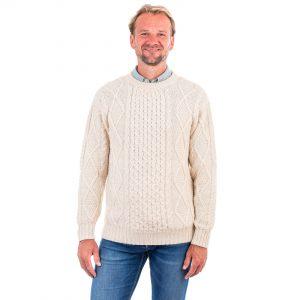 Mens Aran Merino Wool Sweater