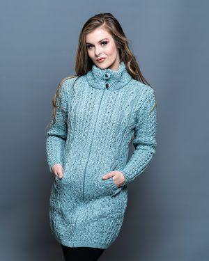 Stunning 100% merino wool aran coat, guaranteed to keep you looking your best this Autumn Winter!