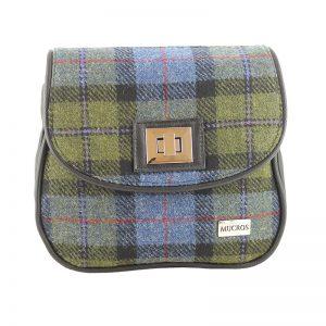 Sarah Mucros Green Check Shoulder Bag
